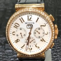 Milus Rose gold Automatic Mother of pearl Arabic numerals 45mm new Zetios