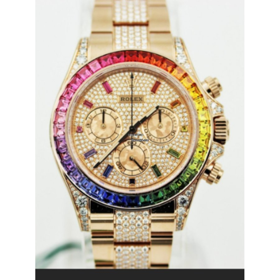 Rolex Daytona Rainbow Full Pave Diamond 116595RBOW,0002