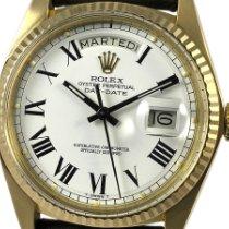 Rolex Day-Date 36 Oro amarillo 36mm Blanco Romanos España, Barcelona