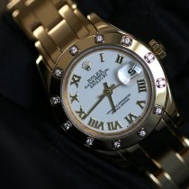 Rolex Lady-Datejust Pearlmaster Or jaune 29mm Blanc Romain France, Thonon les bains