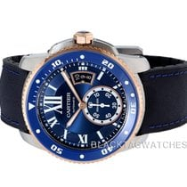 Cartier Calibre de Cartier Diver Gold/Steel 42mm Blue Roman numerals United States of America, Florida, Aventura