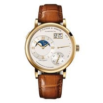 A. Lange & Söhne Yellow gold Manual winding Silver Roman numerals 41mm new Grand Lange 1