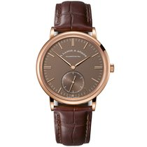 A. Lange & Söhne Saxonia Rose gold 38.5mm Brown No numerals