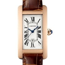 Cartier Tank Américaine Rose gold 41.6mm Silver Roman numerals United Kingdom