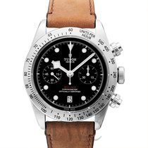 チュドール (Tudor) Black Bay Chrono Black Steel/Leather 41mm - 79350