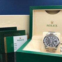 Rolex Datejust II 41mm Black Stick Dial Stainless Steel Watch...