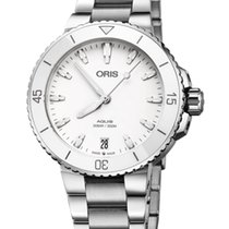Oris Steel Automatic White 36.5mm new Aquis Date