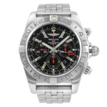 Breitling Chronomat GMT Steel 47mm Black Arabic numerals