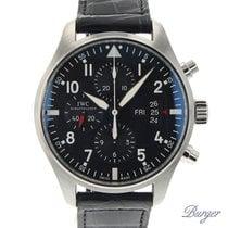 IWC Pilot Chronograph Staal 43mm Zwart Arabisch Nederland, Maastricht