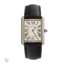 Cartier new Quartz 34.8mm Steel Sapphire Glass