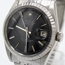 Rolex Datejust usado 36mm Preto Data Dobra