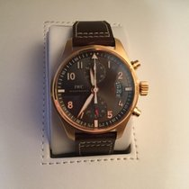 IWC Pilot Spitfire Chronograph pre-owned 43mm Grey Chronograph Date Calf skin