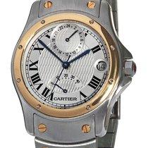 Cartier Santos (submodel) Gold/Steel 33mm Silver Roman numerals United States of America, Florida, Plantation