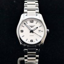 Longines Conquest Classic Steel 40mm White Arabic numerals