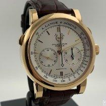 A. Lange & Söhne Double Split Rose gold 43mm White Arabic numerals