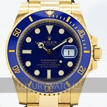 Rolex Submariner Date Gelbgold 40mm Blau