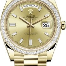 Rolex 228398TBR Champagne Baguette Yellow gold 2021 Day-Date 40 40mm new United States of America, New York, Airmont