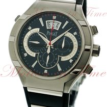 Piaget Polo FortyFive Flyback Chronograph, Black Dial -...