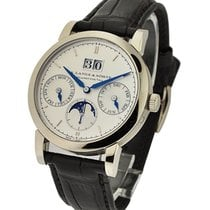 A. Lange & Söhne 330.026 Saxonia Annual Calendar in White Gold...