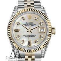 Rolex Datejust Золото/Cталь 36mm Перламутровый Без цифр