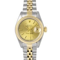 Rolex Datejust Ladies Steel & Gold Champagne Dial 69173,...