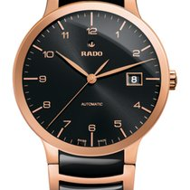 Rado Rose gold Automatic Black Arabic numerals 38mm new Centrix