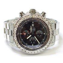 Breitling Super Avenger 48mm Stainless Steel Custom Diamonds...