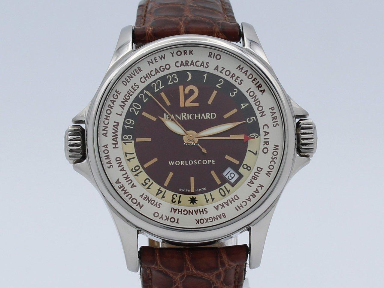99db2aa405c Daniel Jeanrichard Worldscope Wordtime GMT Date Steel Automati... for C   1