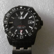 Davosa Argonautic Dual Time Steel 42mm Black No numerals