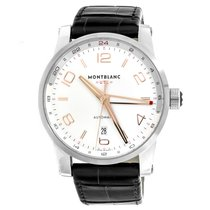 Montblanc Timewalker Stal 43mm Srebrny Arabskie
