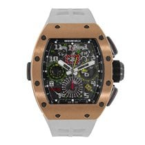 Richard Mille RM 11-02 GMT Rose Gold Titanium Rubber Automatic...