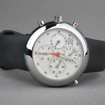 Ikepod Chronograph 44mm Automatic new Hemipode Silver