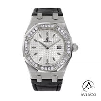 Audemars Piguet Royal Oak Lady Сталь 33mm Белый Без цифр