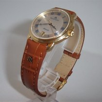 Maurice Lacroix Yellow gold Automatic Silver Roman numerals 35,5mm new