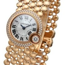 Cartier Ballon Blac WHT Pearl DIA Women 18KT Rose Gold Watch...