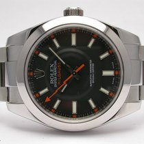 Rolex 116400 Oyster Perpetual Milgauss Automatic Mens Stainles...