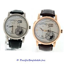 A. Lange & Söhne White gold Manual winding Silver 42mm pre-owned Grand Lange 1
