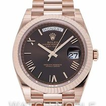 Rolex Day-Date 40 Red gold 40mm Brown Roman numerals