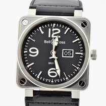 Bell & Ross Big Date Automatic Stainless Steel Br01-96 Watch 46mm