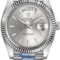 Rolex Oro blanco Automático Plata 40mm nuevo Day-Date 40