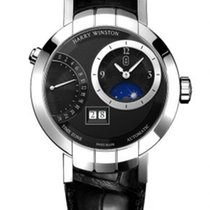 Harry Winston White gold Manual winding Grey Arabic numerals 41mm new Premier