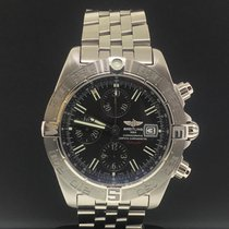 Breitling Galactic Steel 44mm Black No numerals United States of America, New York, New York