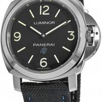 Panerai Luminor Base Logo Steel 44mm Black Arabic numerals
