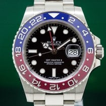 Rolex 116719BLRO GMT Master II Blue / Red 18K White Gold (29626)