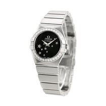 Omega Constellation Quartz Steel 27mm Black