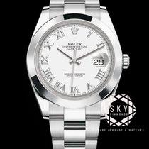Rolex Datejust Stahl 41mm Schwarz Keine Ziffern