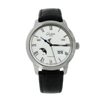 Glashütte Original Senator Perpetual Calendar Steel 42mm White Roman numerals United States of America, Connecticut, Greenwich