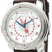 ロンジン (Longines) Christbal Steel Leather Automatic Mens Watch...