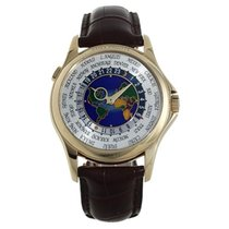 Patek Philippe World Time  World Time Emaille Dial Gelbgold...