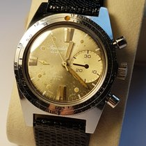 Aquastar Chronograph Manual winding 1968 pre-owned Silver